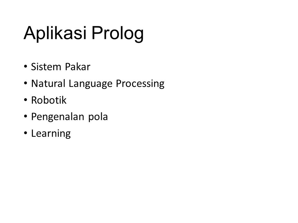 Aplikasi Prolog Sistem Pakar Natural Language Processing Robotik