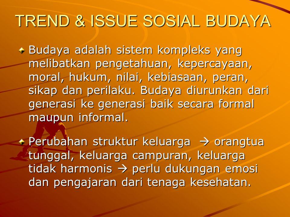 TREND & ISSUE SOSIAL BUDAYA