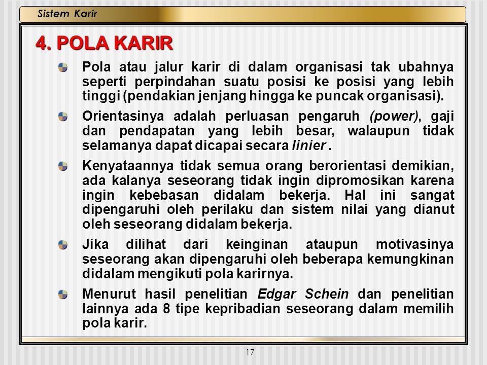 4. POLA KARIR