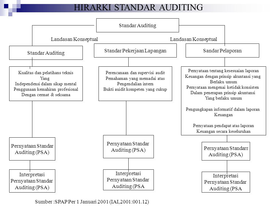 HIRARKI STANDAR AUDITING