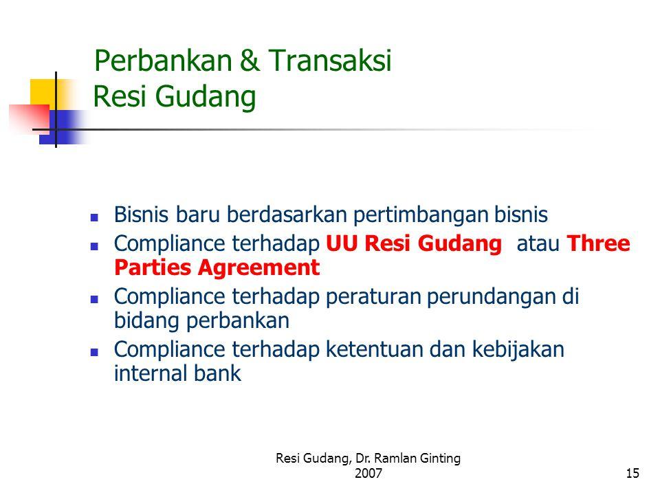 Perbankan & Transaksi Resi Gudang