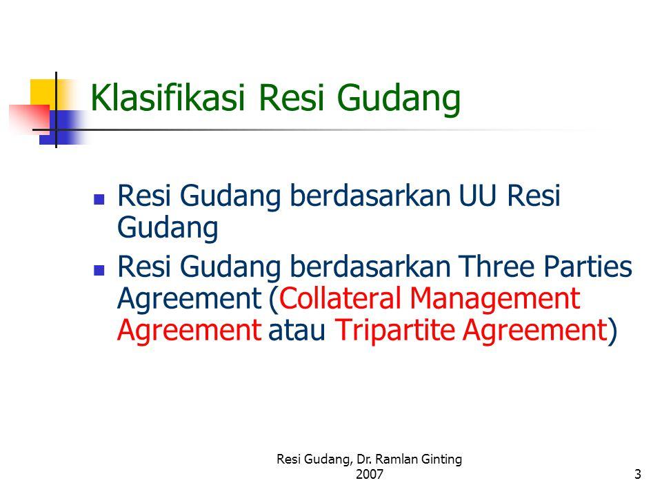 Klasifikasi Resi Gudang