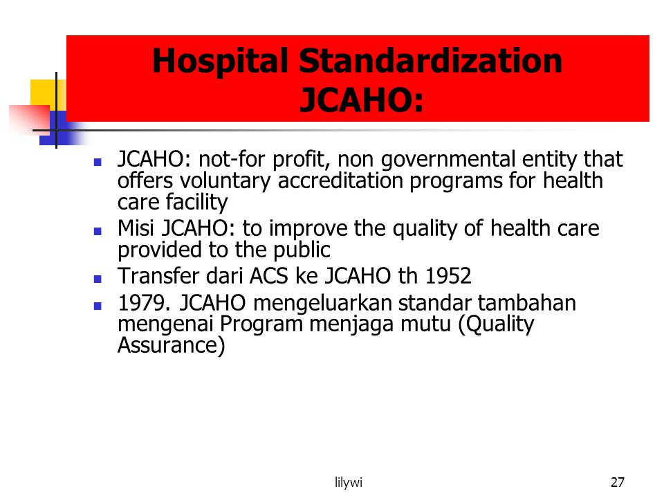 Hospital Standardization JCAHO: