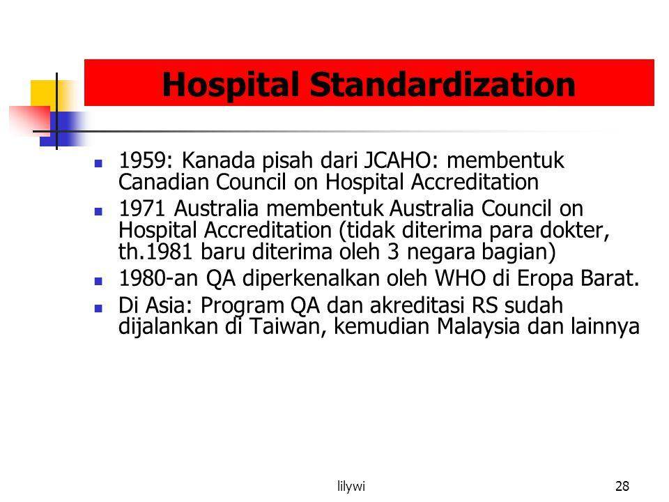 Hospital Standardization