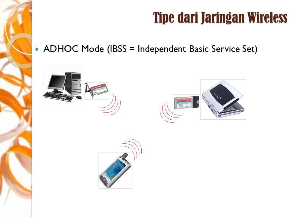 Tipe dari Jaringan Wireless