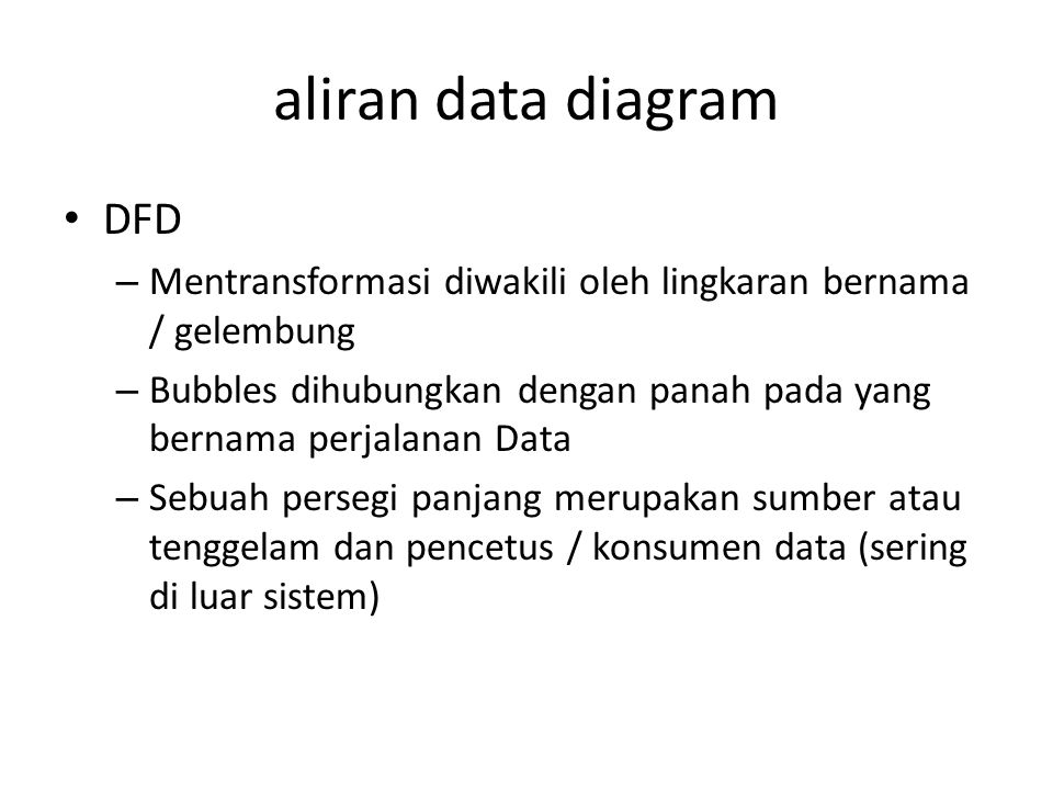 aliran data diagram DFD