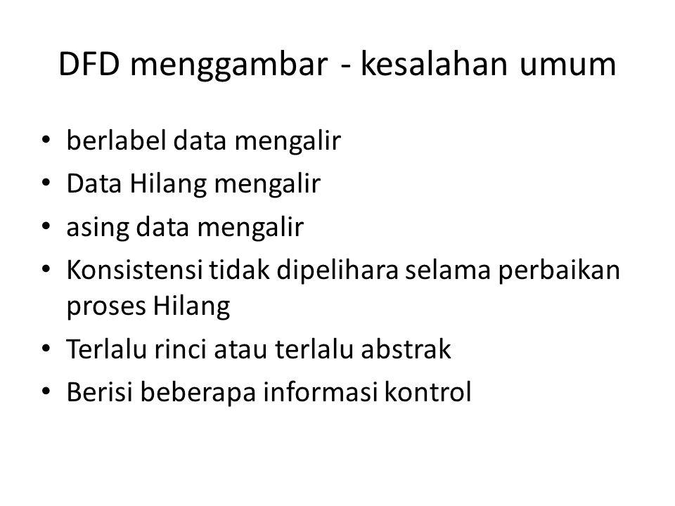 DFD menggambar - kesalahan umum