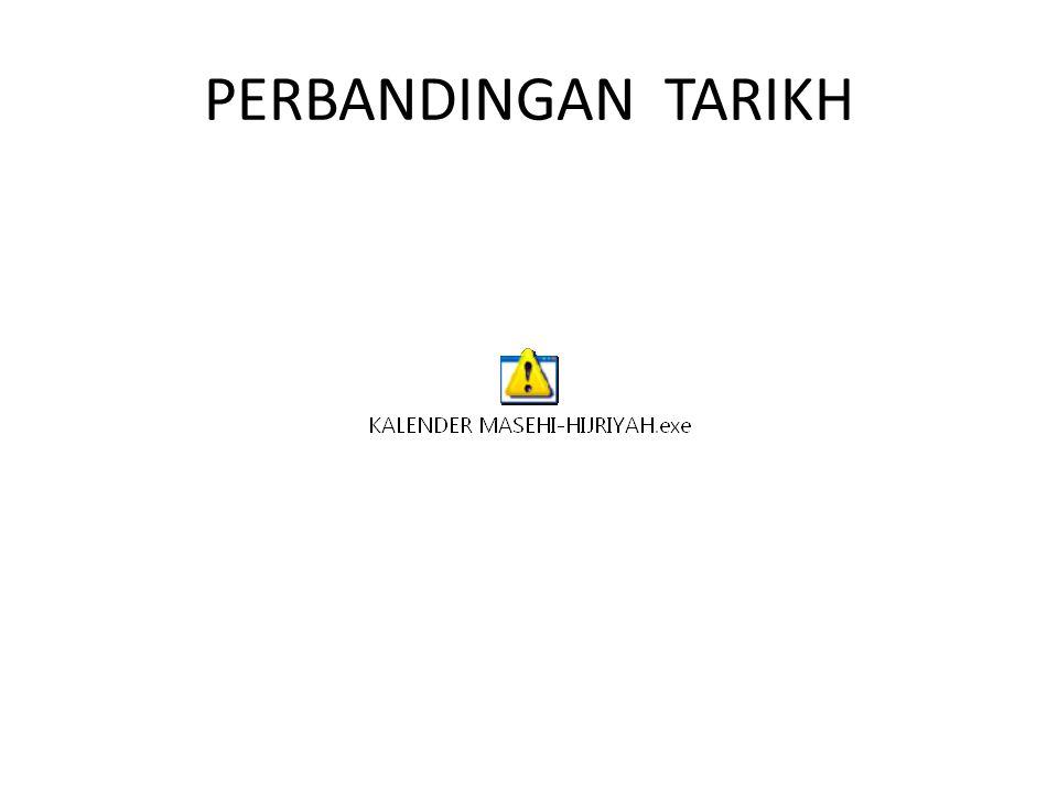 PERBANDINGAN TARIKH