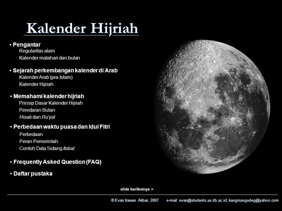 Kalender Hijriah Pengantar Sejarah perkembangan kalender di Arab