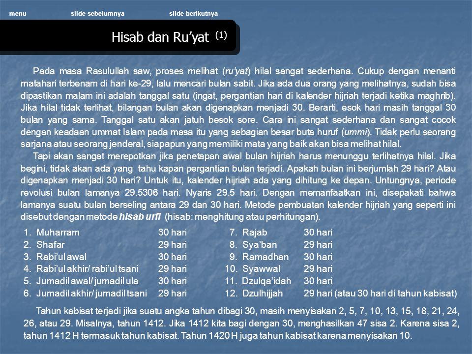 menu slide sebelumnya. slide berikutnya. Hisab dan Ru'yat (1)