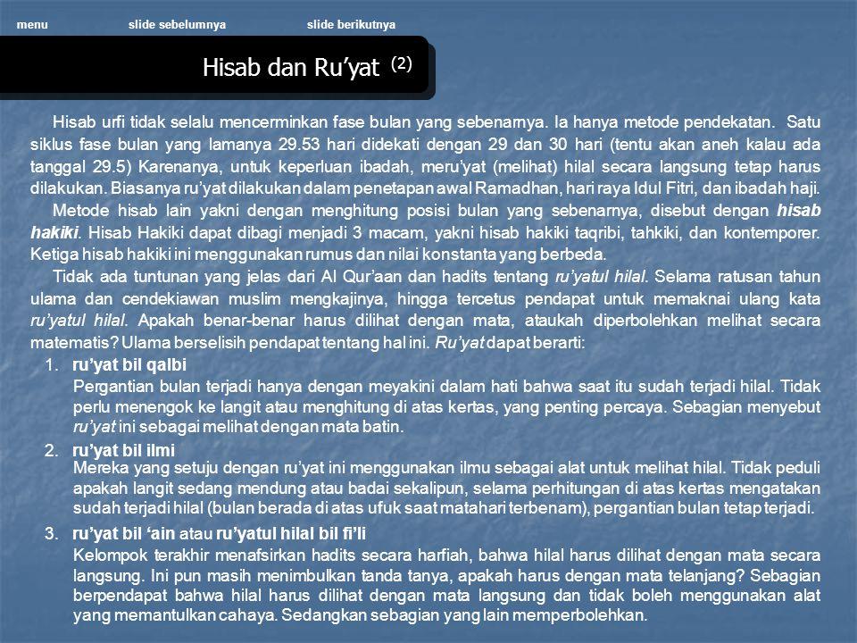 menu slide sebelumnya. slide berikutnya. Hisab dan Ru'yat (2)