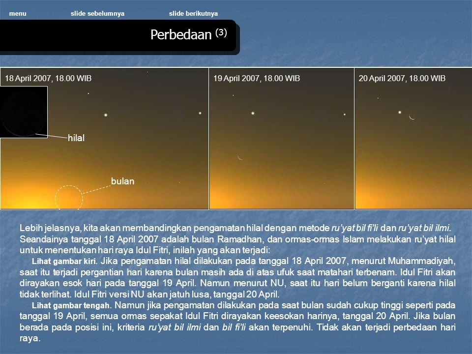 Perbedaan (3) hilal bulan