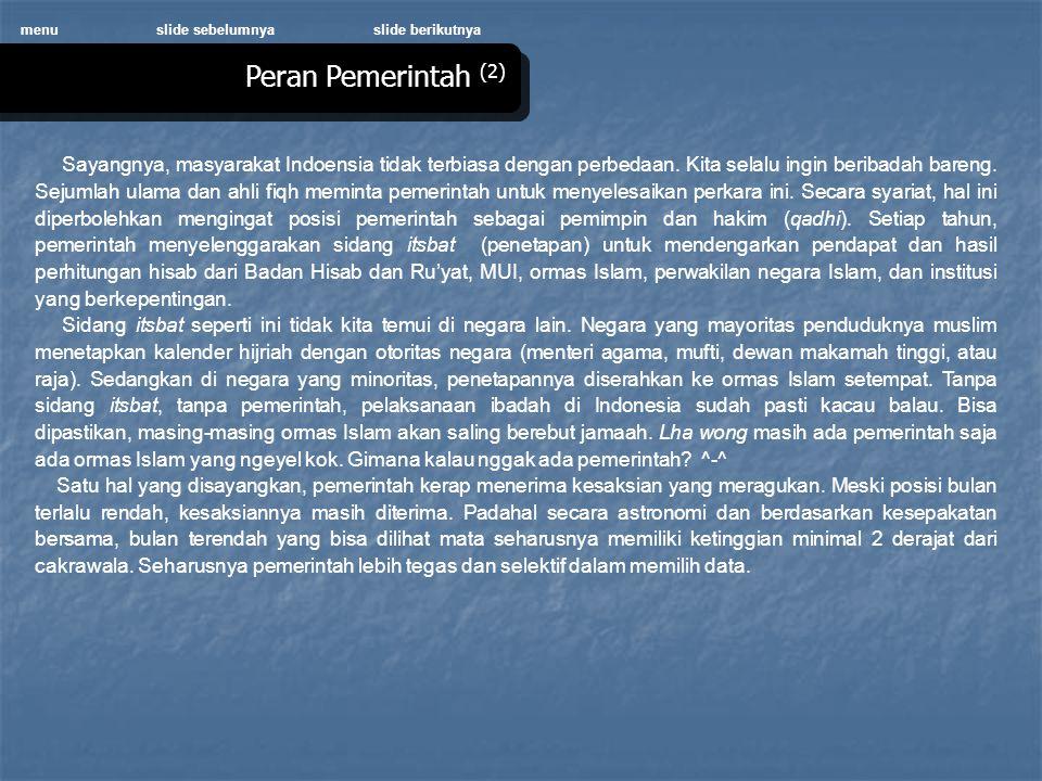 menu slide sebelumnya. slide berikutnya. Peran Pemerintah (2)