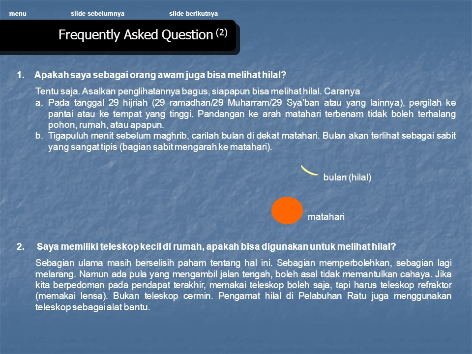 Frequently Asked Question (2)