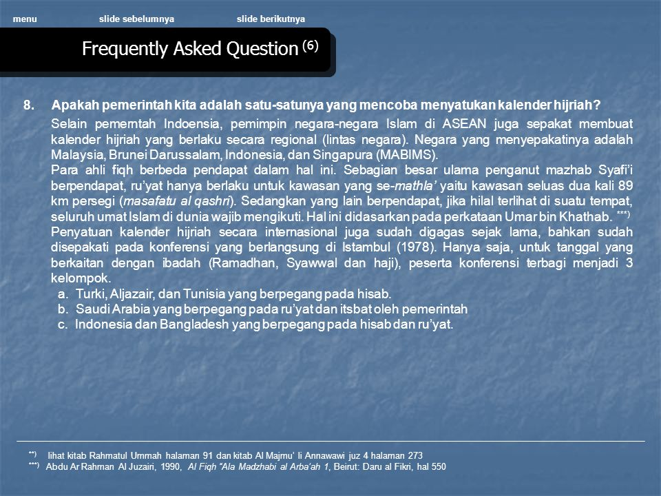 Frequently Asked Question (6)