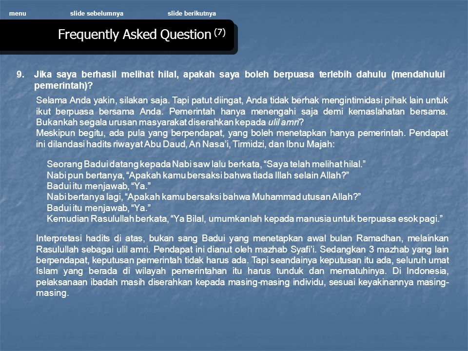 Frequently Asked Question (7)