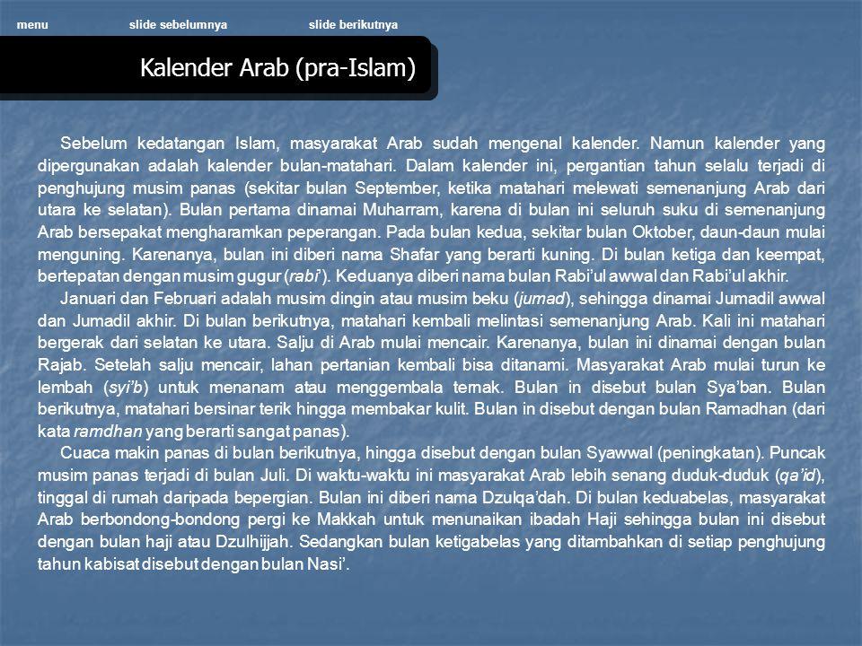 Kalender Arab (pra-Islam)