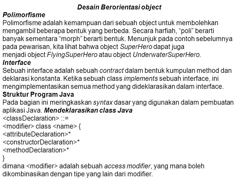 Desain Berorientasi object