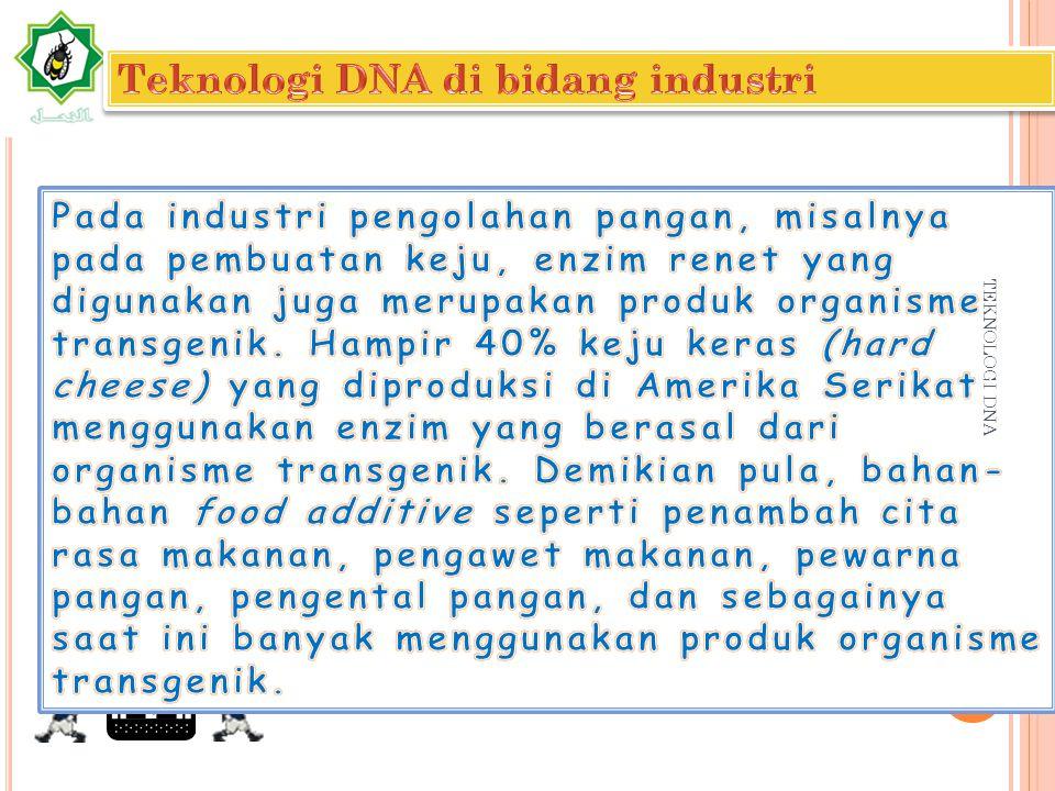 Teknologi DNA di bidang industri