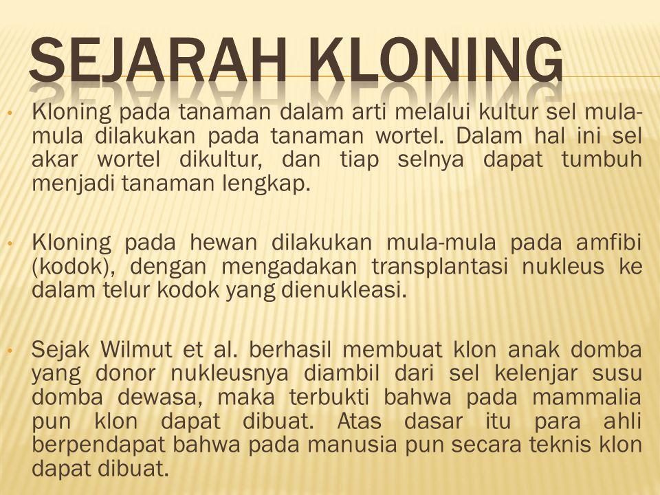 SEJARAH KLONING