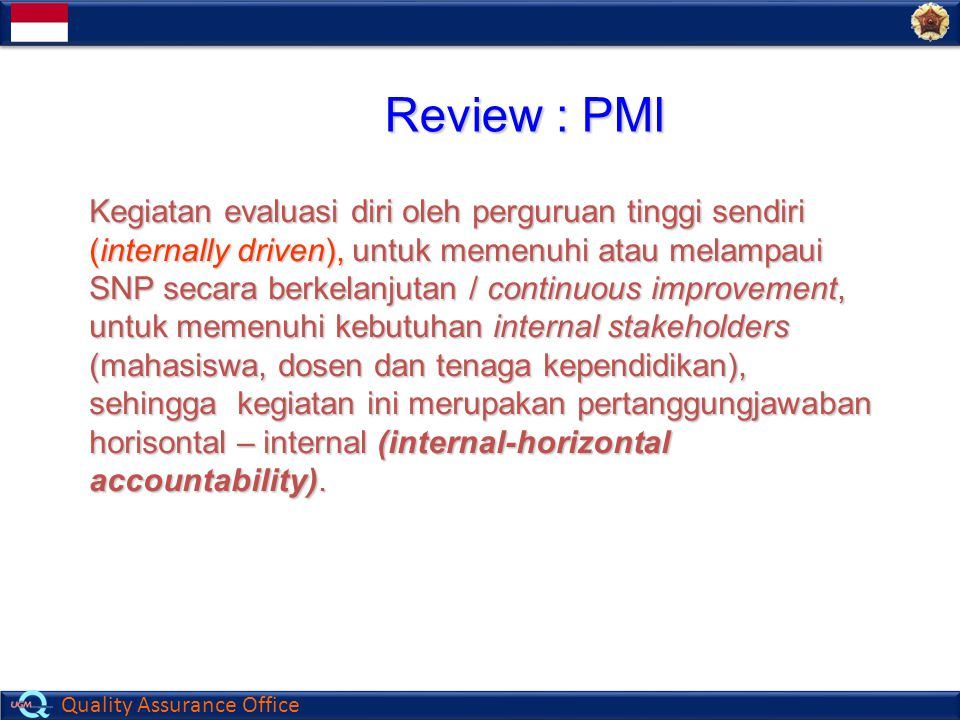 Review : PMI