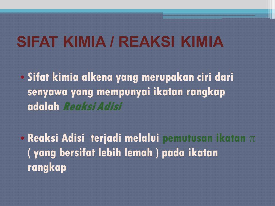 SIFAT KIMIA / REAKSI KIMIA
