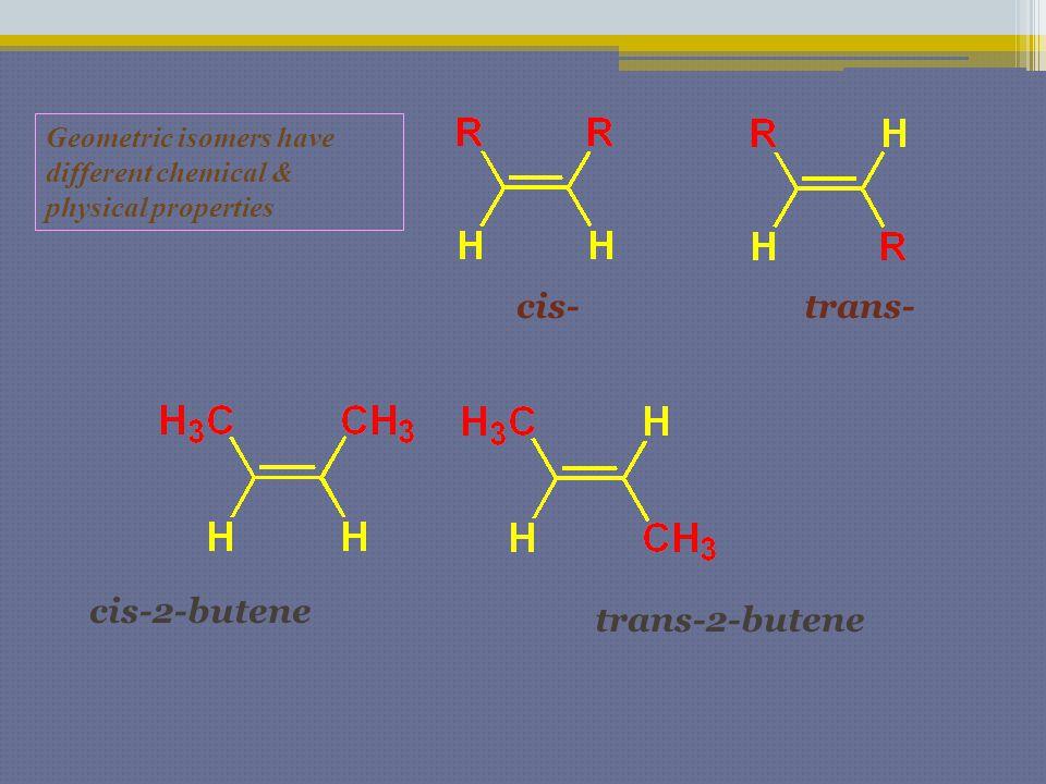 cis- trans- cis-2-butene trans-2-butene