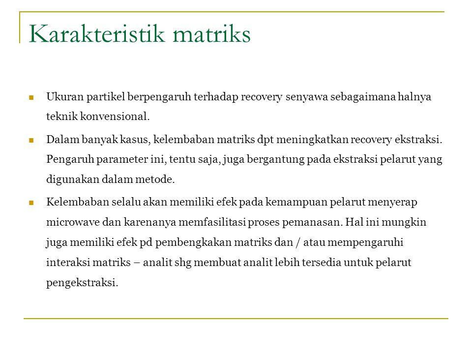 Karakteristik matriks