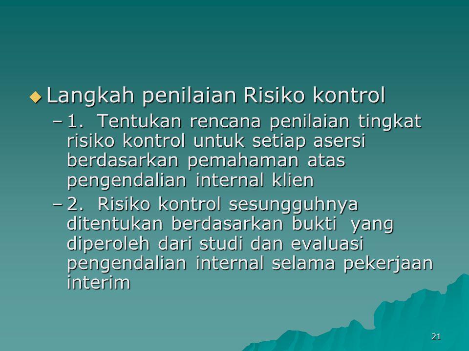 Langkah penilaian Risiko kontrol