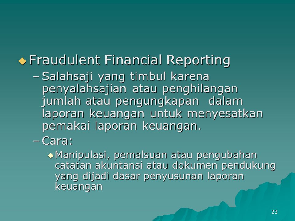 Fraudulent Financial Reporting
