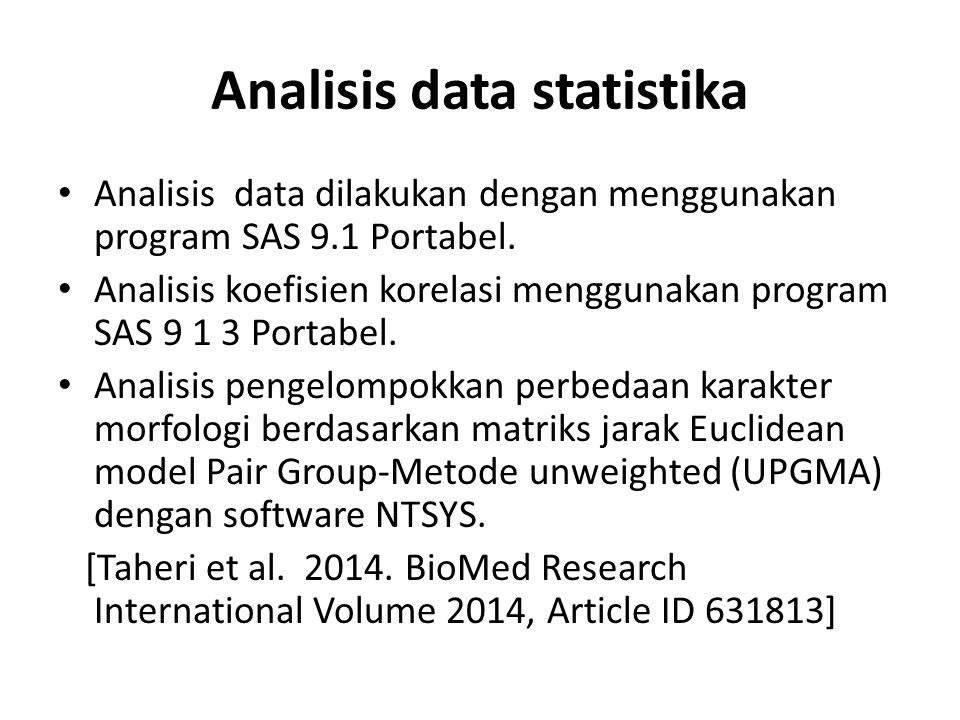 Analisis data statistika