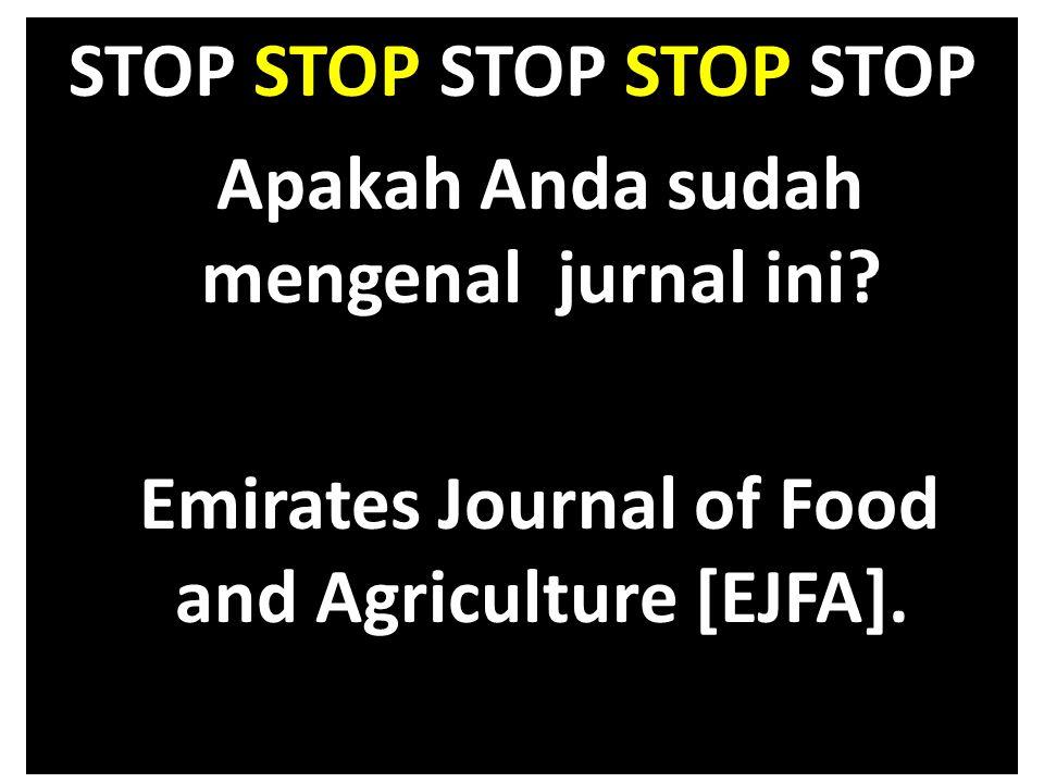 STOP STOP STOP STOP STOP Apakah Anda sudah mengenal jurnal ini