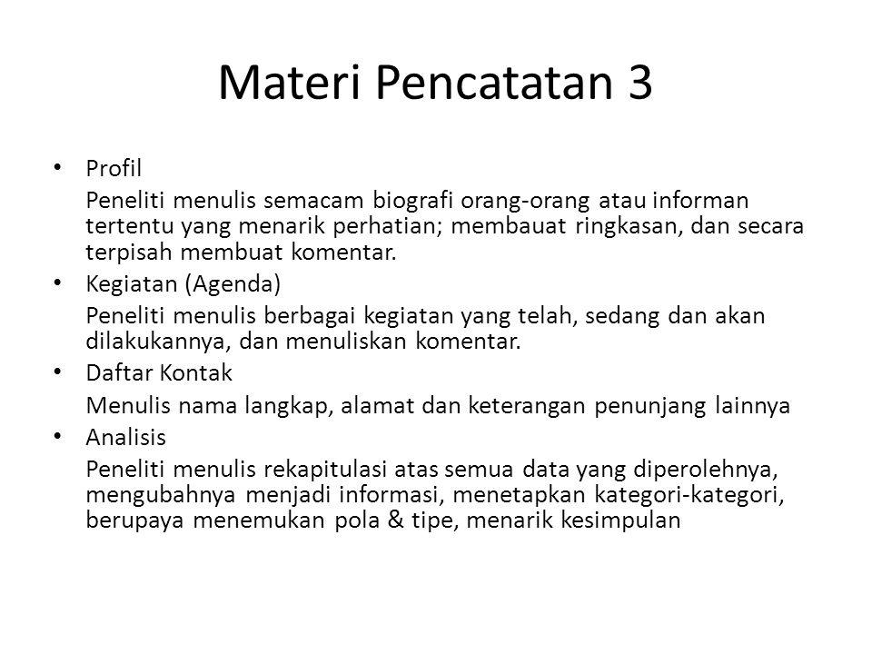 Materi Pencatatan 3 Profil