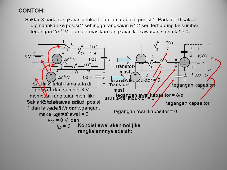 tegangan awal kapasitor = 0