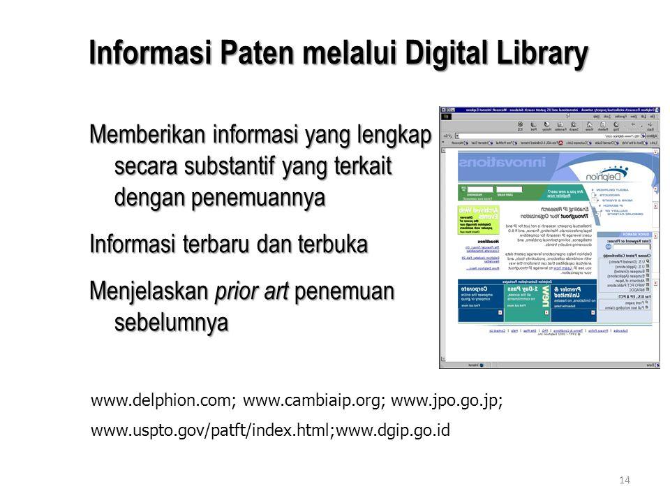 Informasi Paten melalui Digital Library