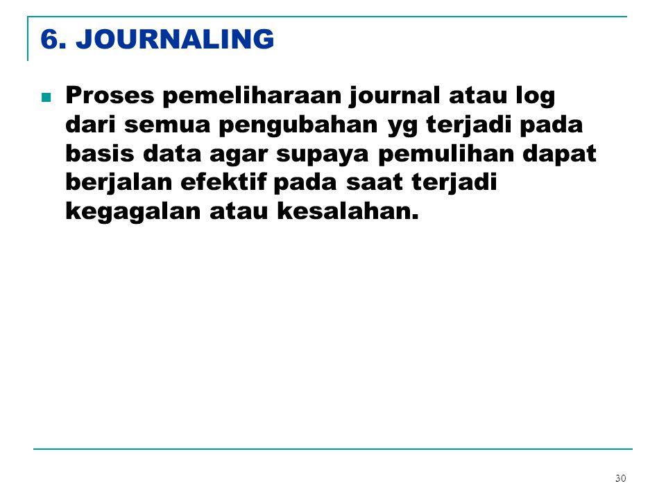 6. JOURNALING