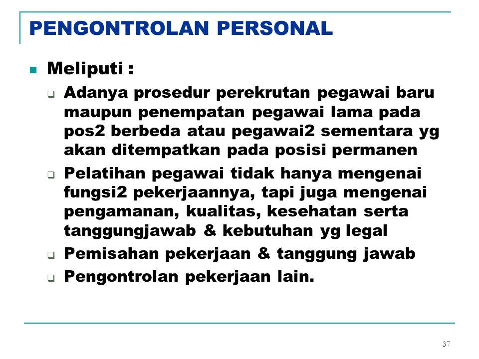 PENGONTROLAN PERSONAL