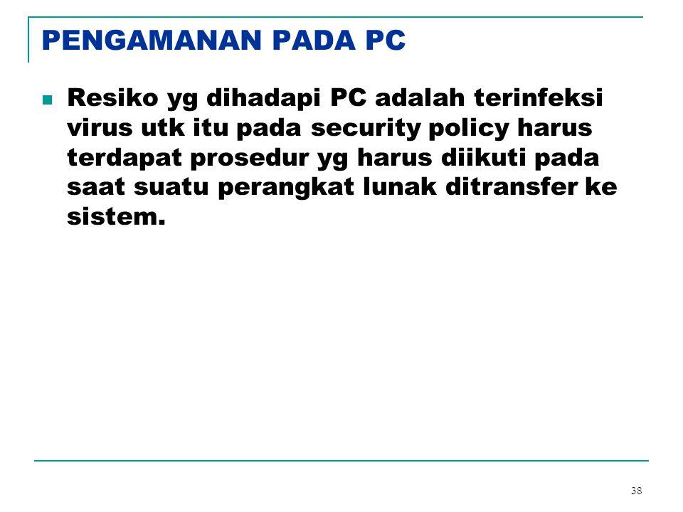 PENGAMANAN PADA PC