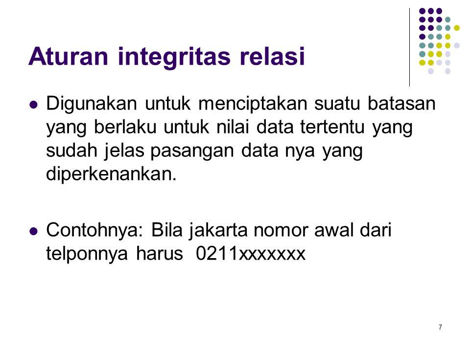 Aturan integritas relasi