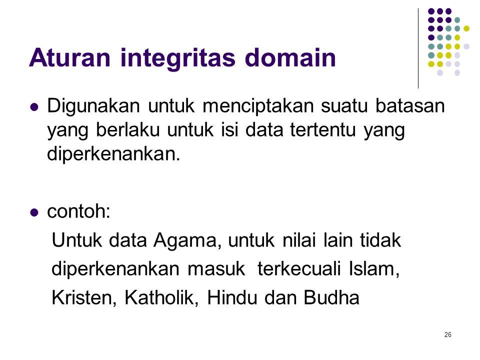 Aturan integritas domain