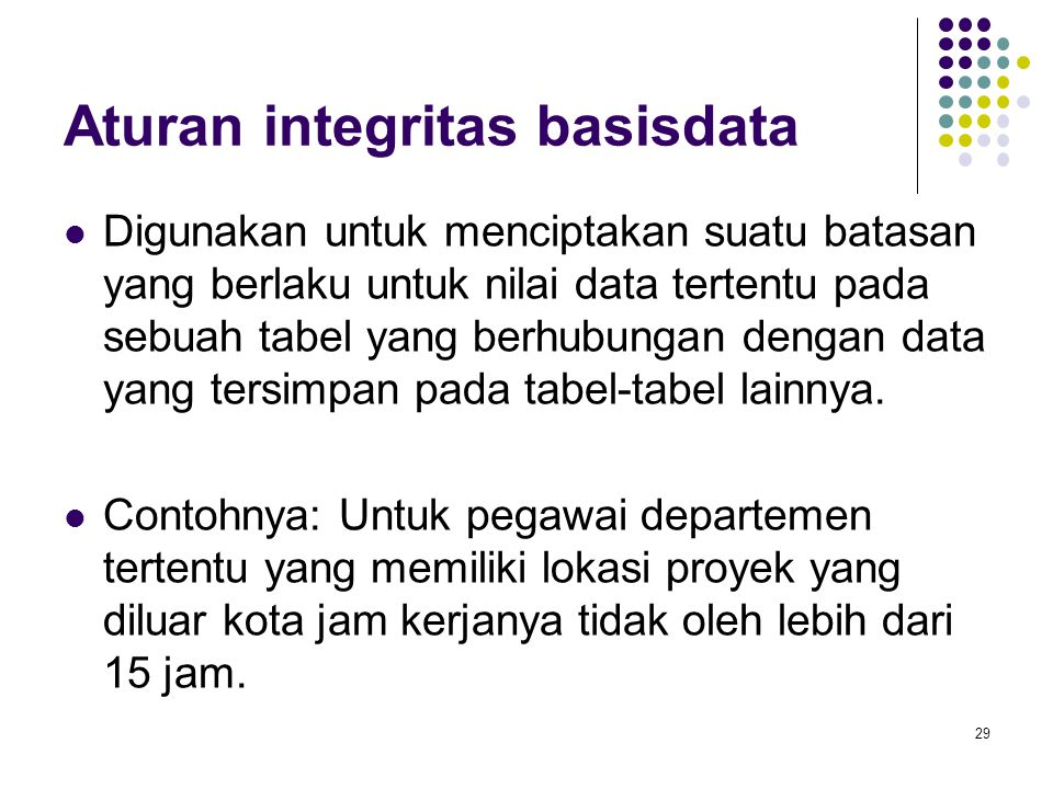 Aturan integritas basisdata