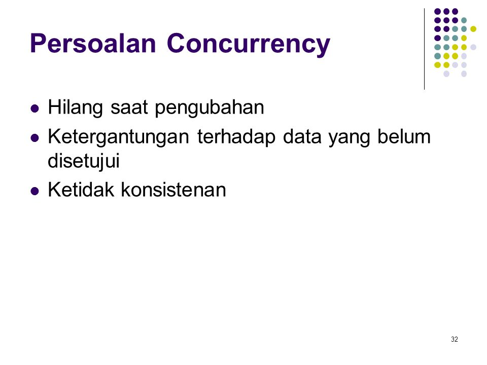 Persoalan Concurrency