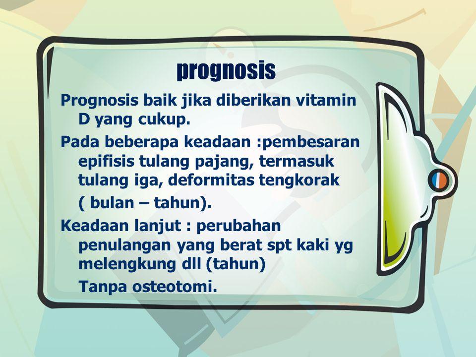 prognosis Prognosis baik jika diberikan vitamin D yang cukup.
