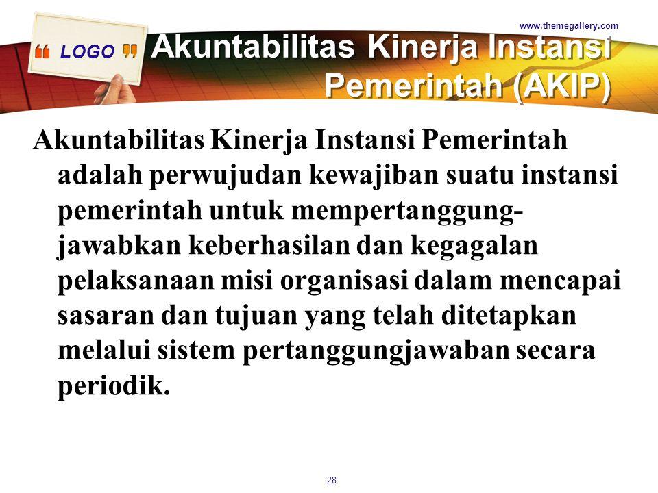 Akuntabilitas Kinerja Instansi Pemerintah (AKIP)