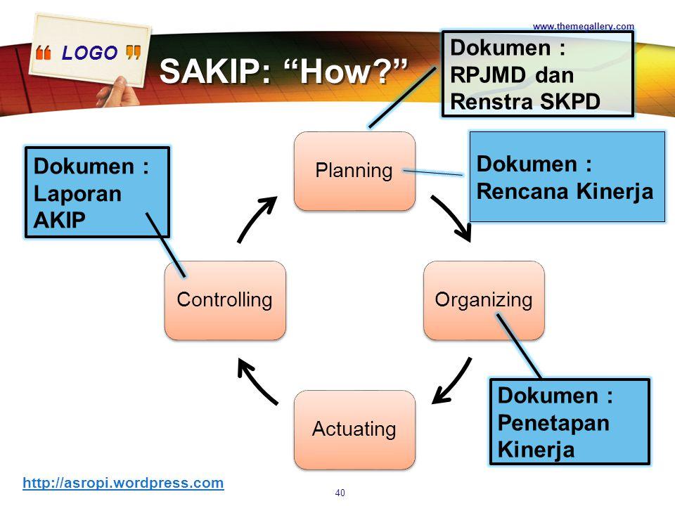 SAKIP: How Dokumen : RPJMD dan Renstra SKPD
