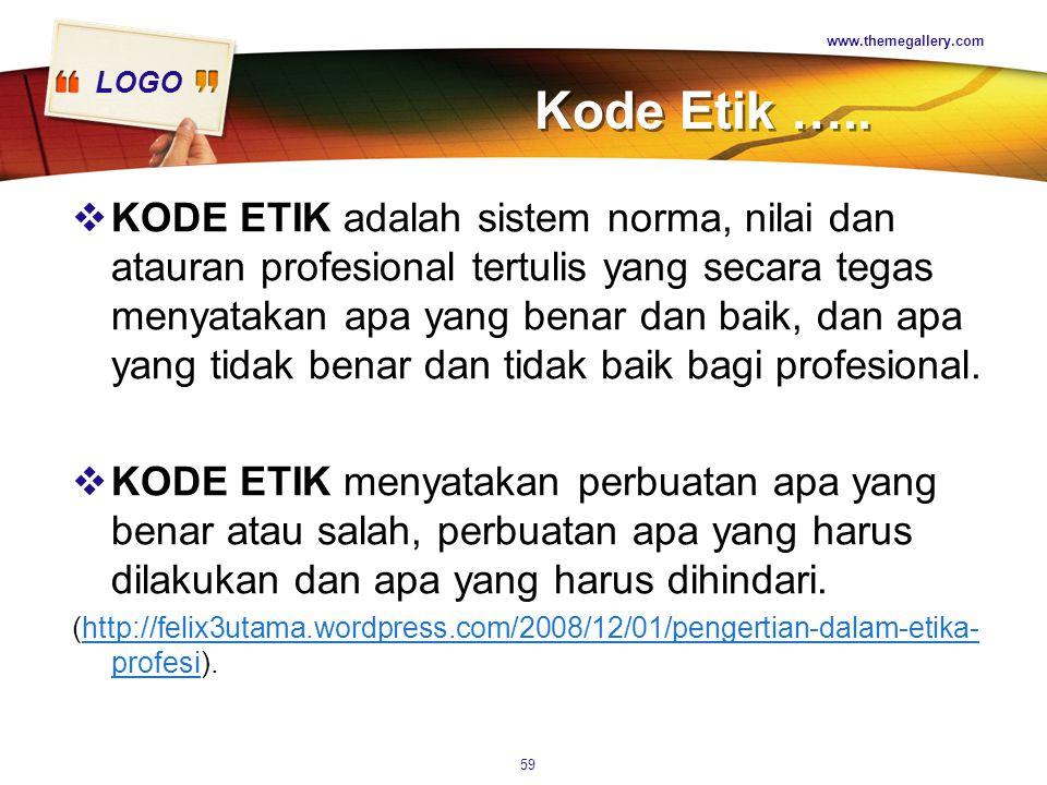www.themegallery.com Kode Etik …..