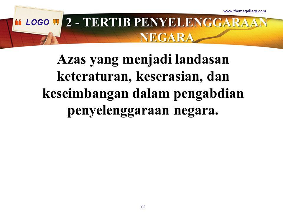 2 - TERTIB PENYELENGGARAAN NEGARA