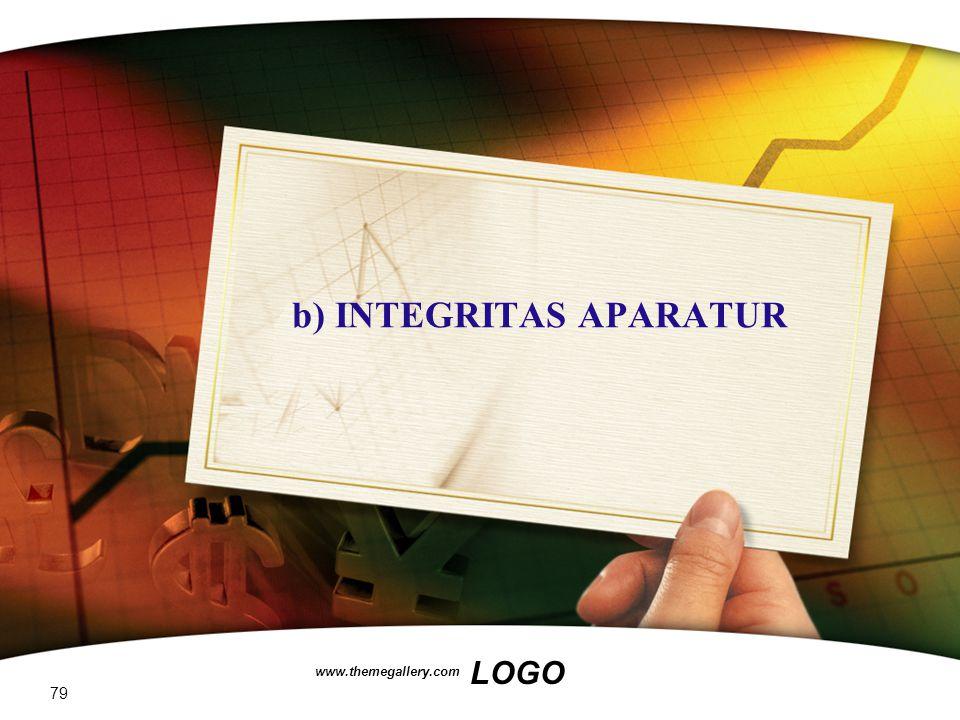 b) INTEGRITAS APARATUR