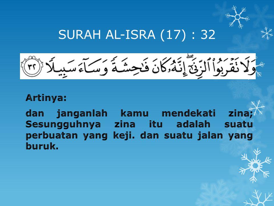 SURAH AL-ISRA (17) : 32