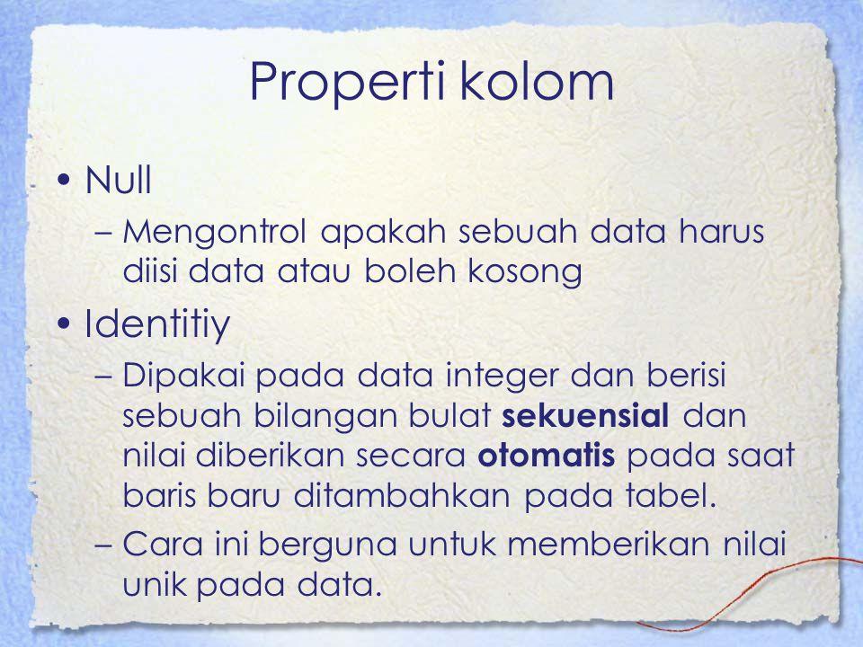 Properti kolom Null Identitiy
